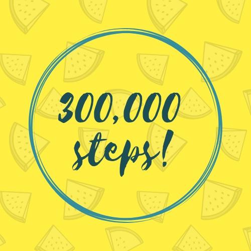 300,000 steps!